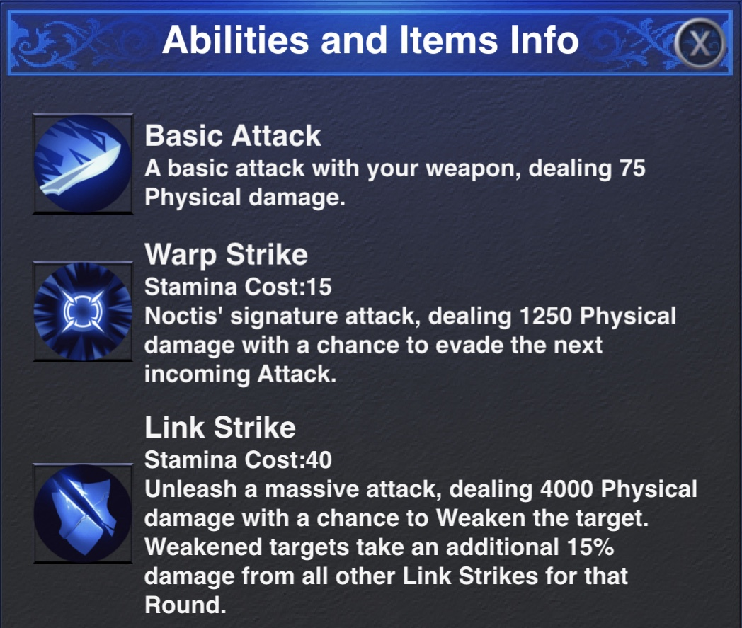 Noctis Dungeon Abilities