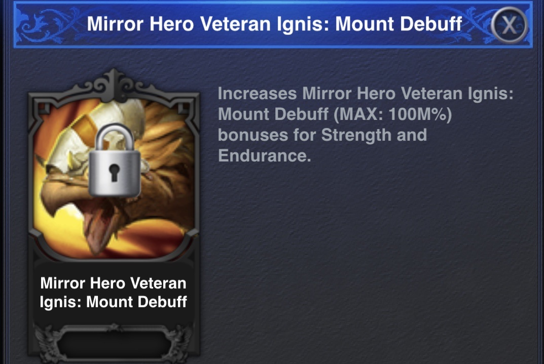 Mount Debuff Mirror Hero