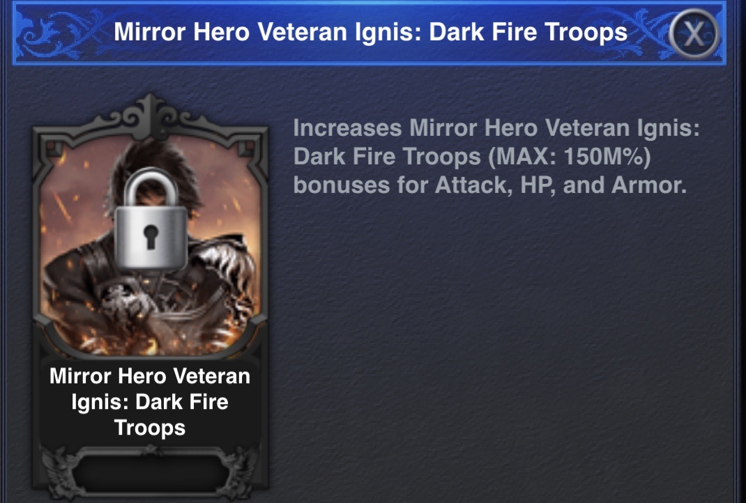 Dark Fire Troops Mirror Hero