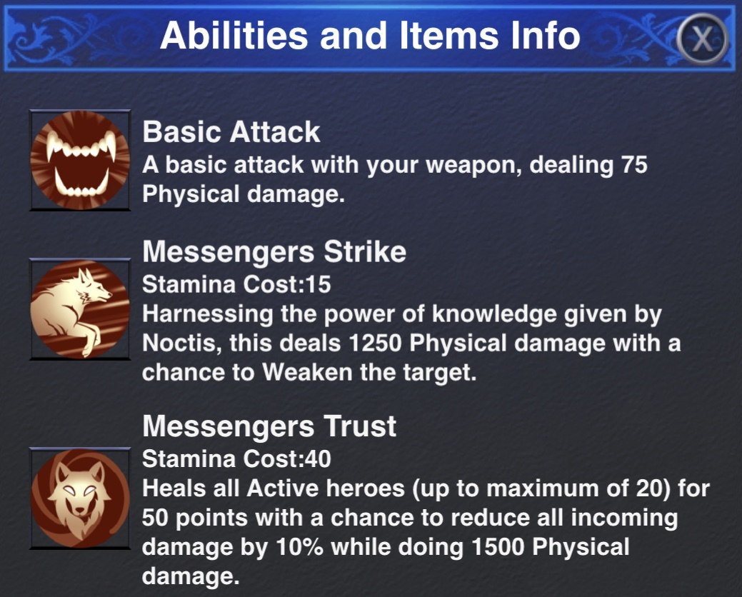 Umbra Dungeon Abilities