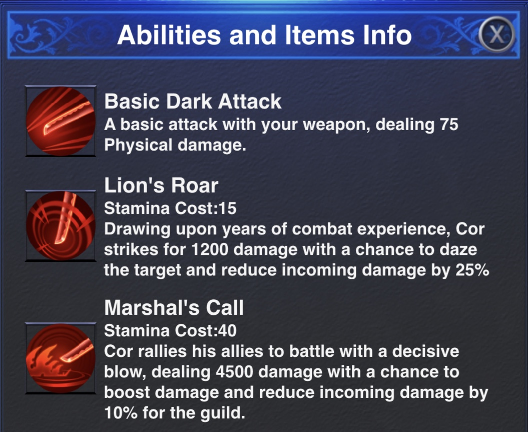 Cor Dungeon Abilities