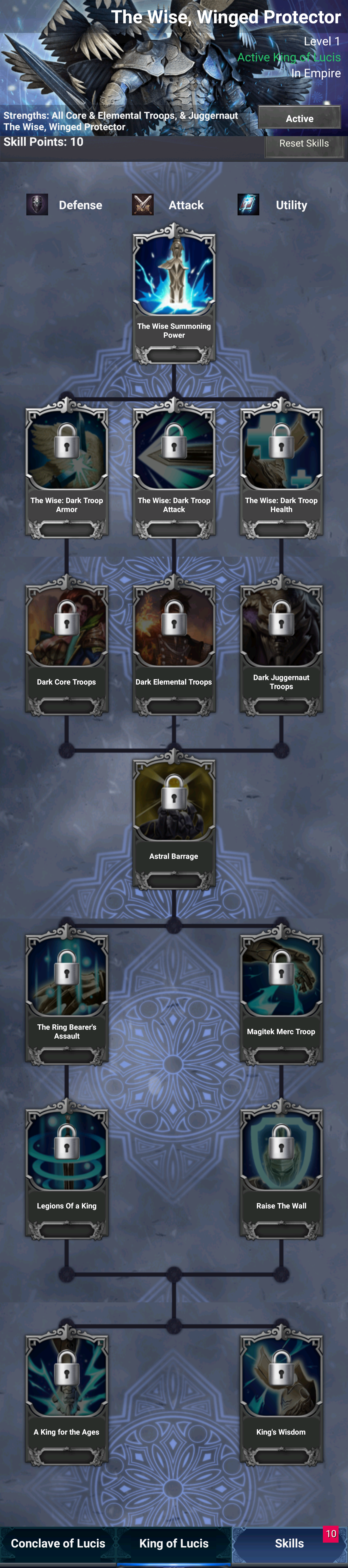 The Wise Skill Tree