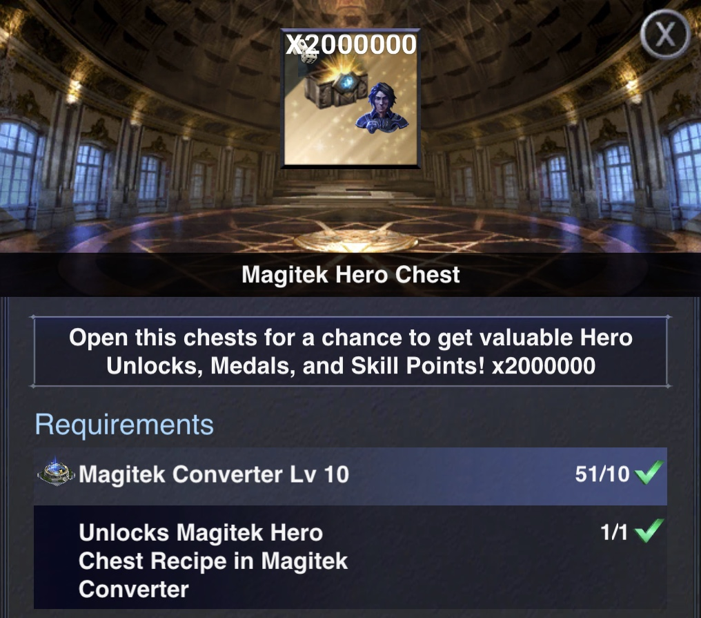 Magitek Hero Chests