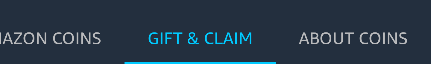 Gift and Claim Amazon Coins
