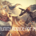 Community Advice for players